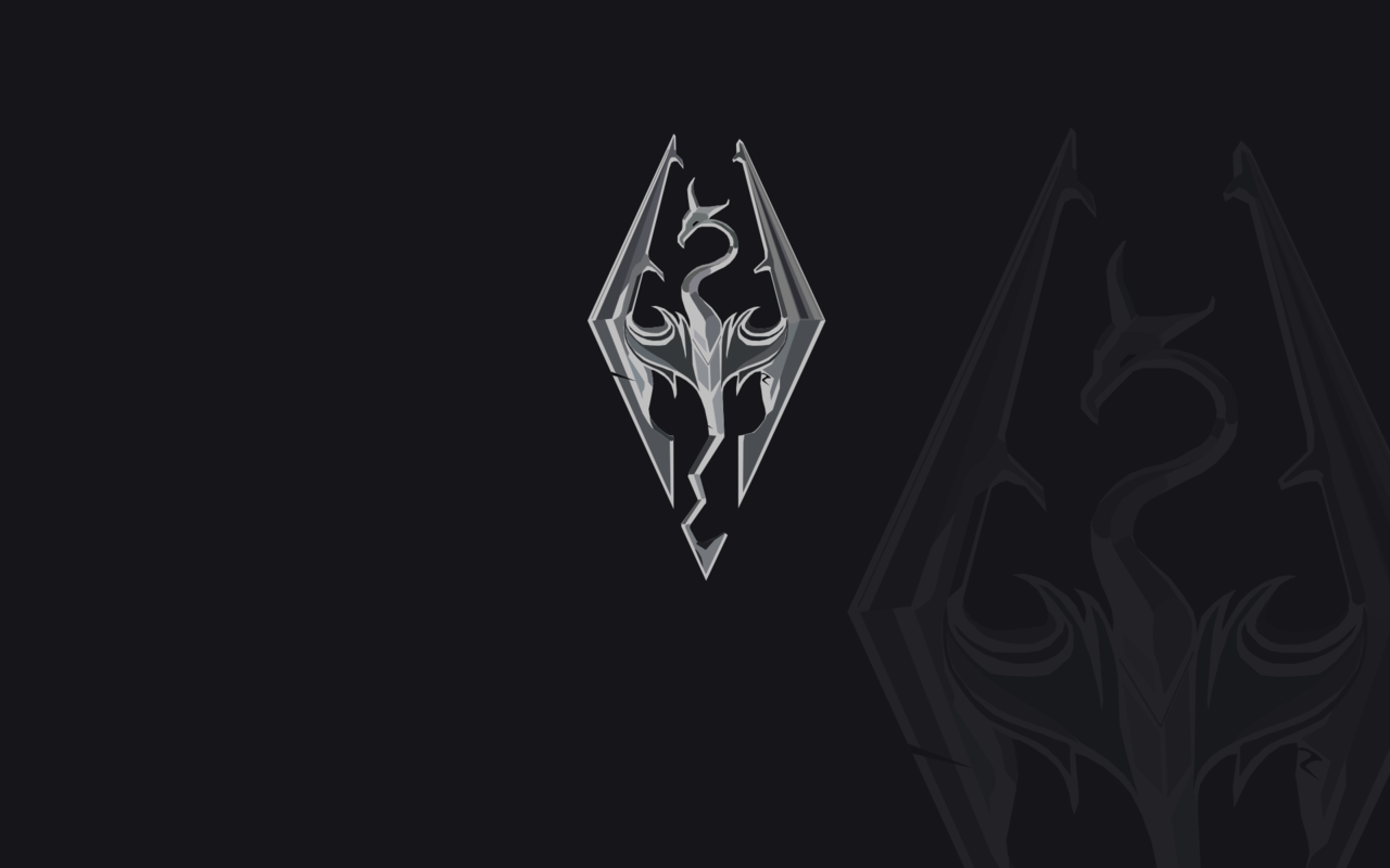 Skyrim Logo Wallpaper Logo Wallpaper Hd Wallpaper Skyrim