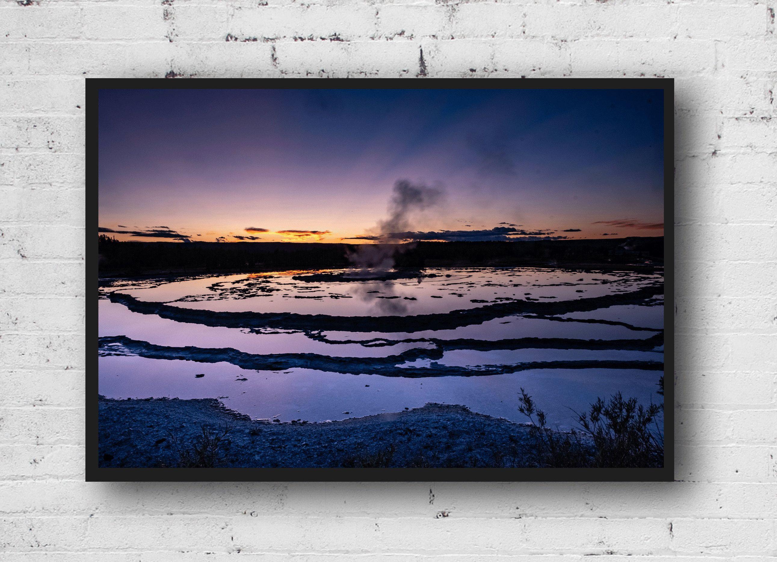Yellowstone Print, Great Fountain Geyser, print wall art, Yellowstone Wall Art, Geyser Photo, Sunset Wall Art, usa landscape print #GeyserPhoto #YellowstoneSunset #ReflectionPhoto #FountainGeyser #YellowstonePhoto #YellowstoneDecor #SunsetPhotography #YellowstoneWallArt #NationalParkArt #NationalPark