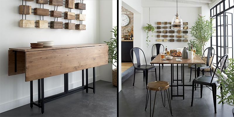 10 space saving dining tables for your tiny apartment for Dining table design ideas for small spaces