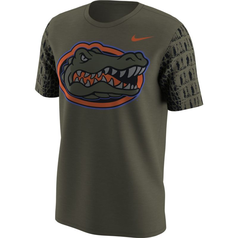 Nike Men's Florida Gators Green Skin Football T-Shirt