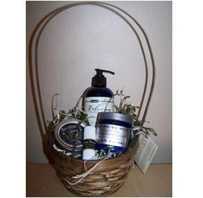 TCLF Pampered Minnesotan Basket - Massage Oil, Soothing Salve, Trancendence Cream & Lip Balm