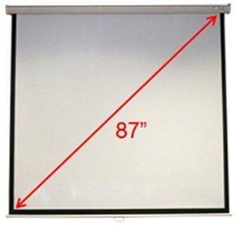 Wall/Ceiling Mnt. Proj. Screen by Acer. $136.41. Wall or Ceiling-Mount Manual Projection Screen