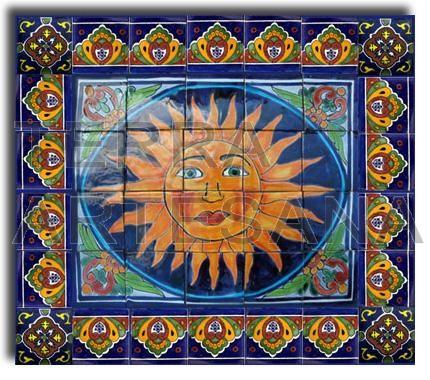 Mexican Talavera Mural 39 Rayo De Sol 39 Home Decor: cheap mexican tile