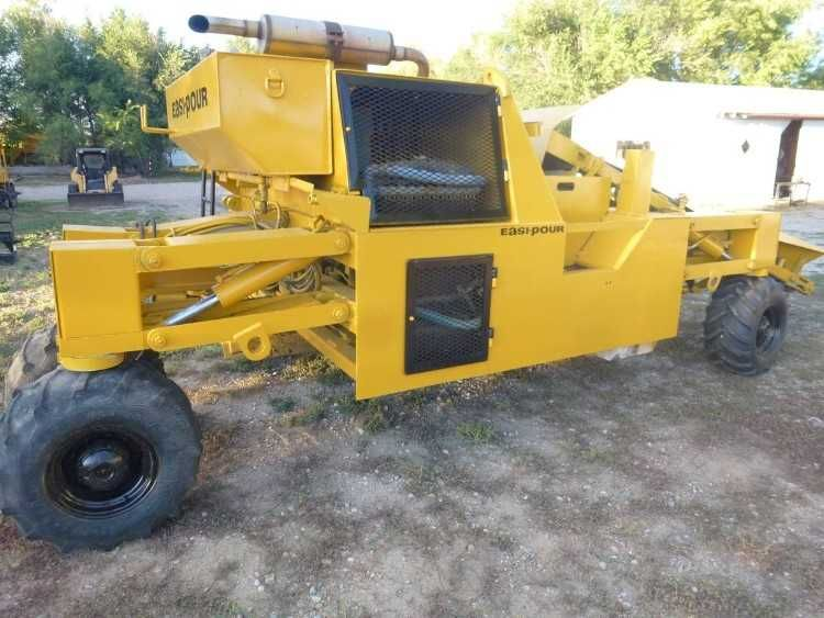 Easi Pour 880 Slipform Concrete Curb 26 Gutter Machine Huron Manufacturing Company This Machine Is Capable Of Pouring Several Gutter Detroit Diesel Concrete