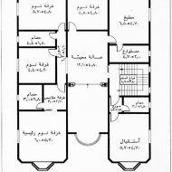 تصميم بناء منازل Family House Plans Square House Plans Floor Plan Design