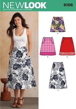 f0c0150cc99 Simplicity New Look 6106 Women s Skirt