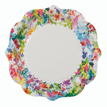 Shop Sweet Lulu Tons of pretty plate options---Floral Fiesta Dinner Plates  sc 1 st  Pinterest & Bright floral dinner plates perfect for any fiesta! 9 inch plates ...