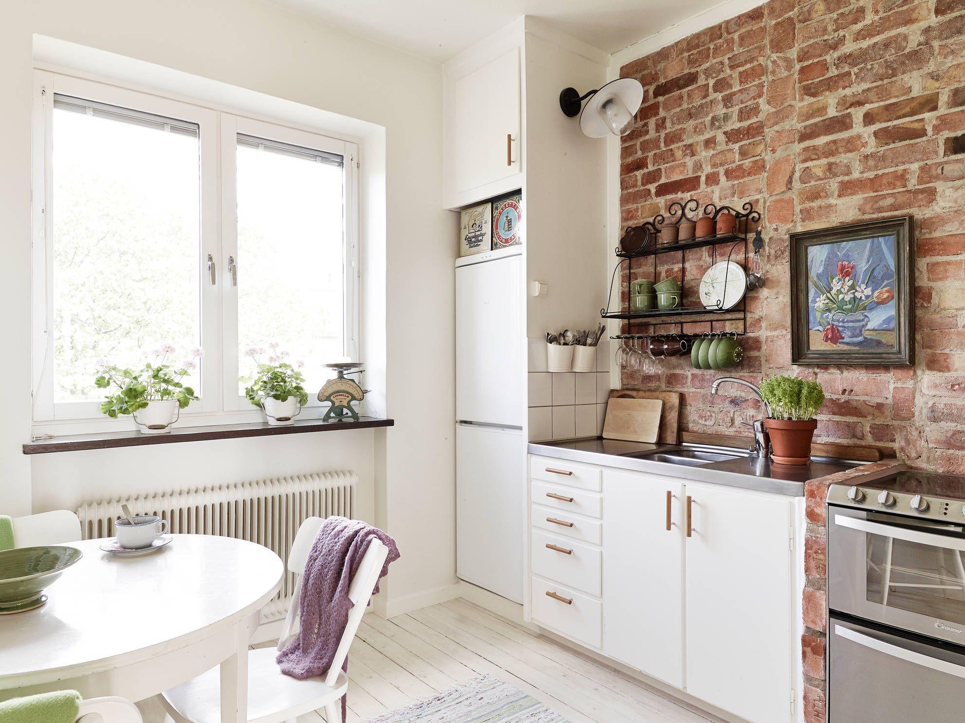 Brick wall kitchen | Brick wall kitchen, Bricks and Kitchens