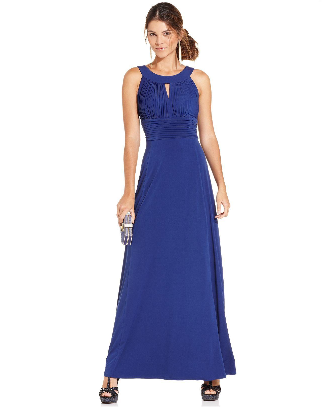 Macy's party dresses weddings  Sangria Sleeveless Keyhole Gown  Maxi Dresses  Women  Macyus