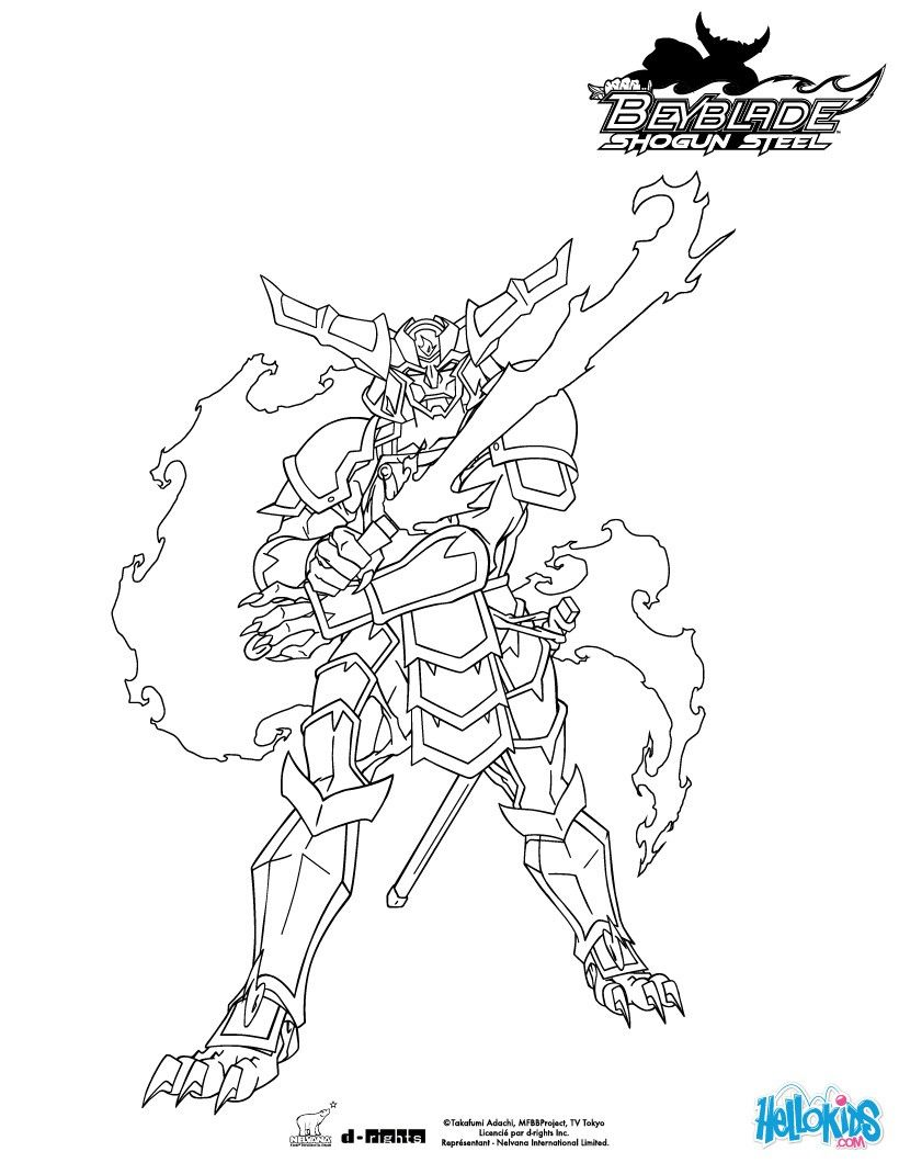 Samurai Ifrit coloring page. More Beyblade content on hellokids.com ...