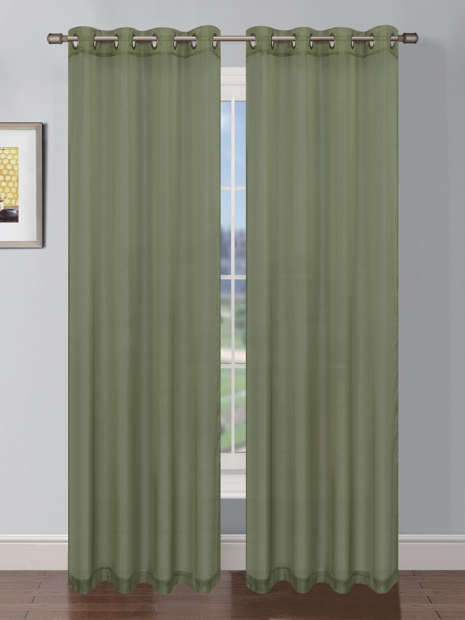 Basics Solid Blackout Grommet Single Curtain Panel Extra Wide