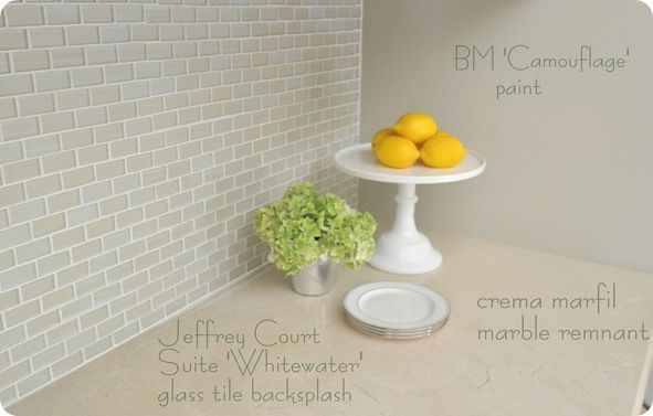 "Centsational Girl: Jeffrey Court Suite ""Whitewater"" glass tile backsplash"