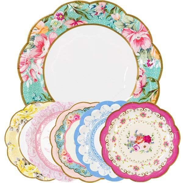 12 Truly Scrumptious Vintage Paper Plates | Tea parties Teas and Afternoon tea  sc 1 st  Pinterest & 12 Truly Scrumptious Vintage Paper Plates | Tea parties Teas and ...