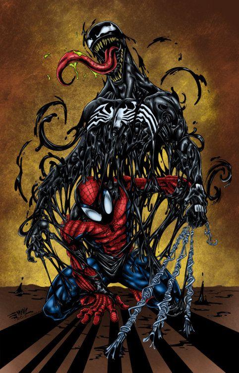 Spiderman vs the Symbiote | Spider-Man | Pinterest ...