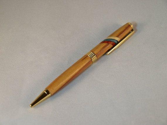 Wooden Pen  Handmade Slim Twist Ballpoint Pen  Russian by WoodenGD