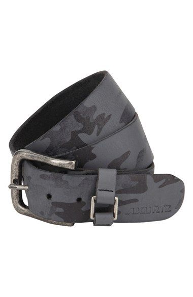 A. Kurtz 'Hadden' Camo Print Leather Belt available at #Nordstrom