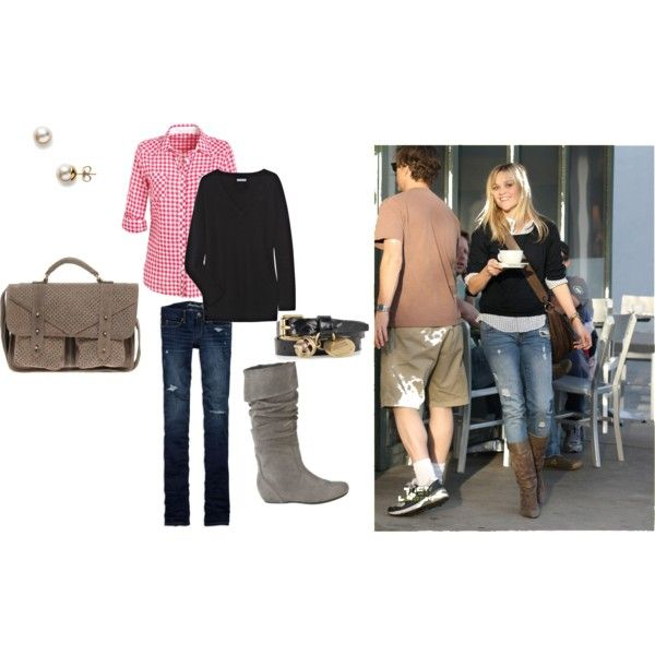 """Reese Witherspoon Jeans & Boots"" by svetlana2 on Polyvore"