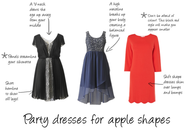 Best style dresses for apple shapes