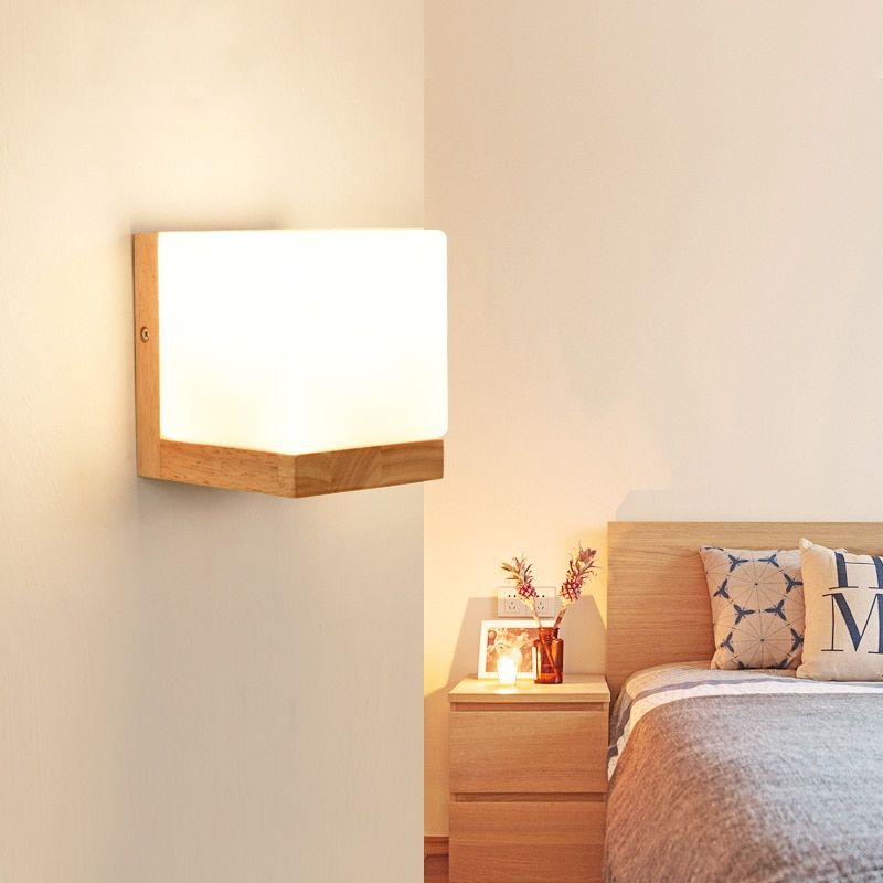 Find More Led Indoor Wall Lamps Information About Modern Wall Light Bedroom Wood Wall Lamp Hallway Wand Wall Lights Bedroom Wall Lamps Bedroom Modern Wall Lamp