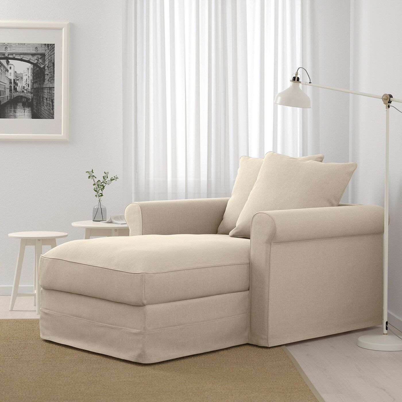 Inexpensive Cottage Style Living Room Furniture From Ikea: IKEA - GRÖNLID Chaise Sporda Natural In 2020