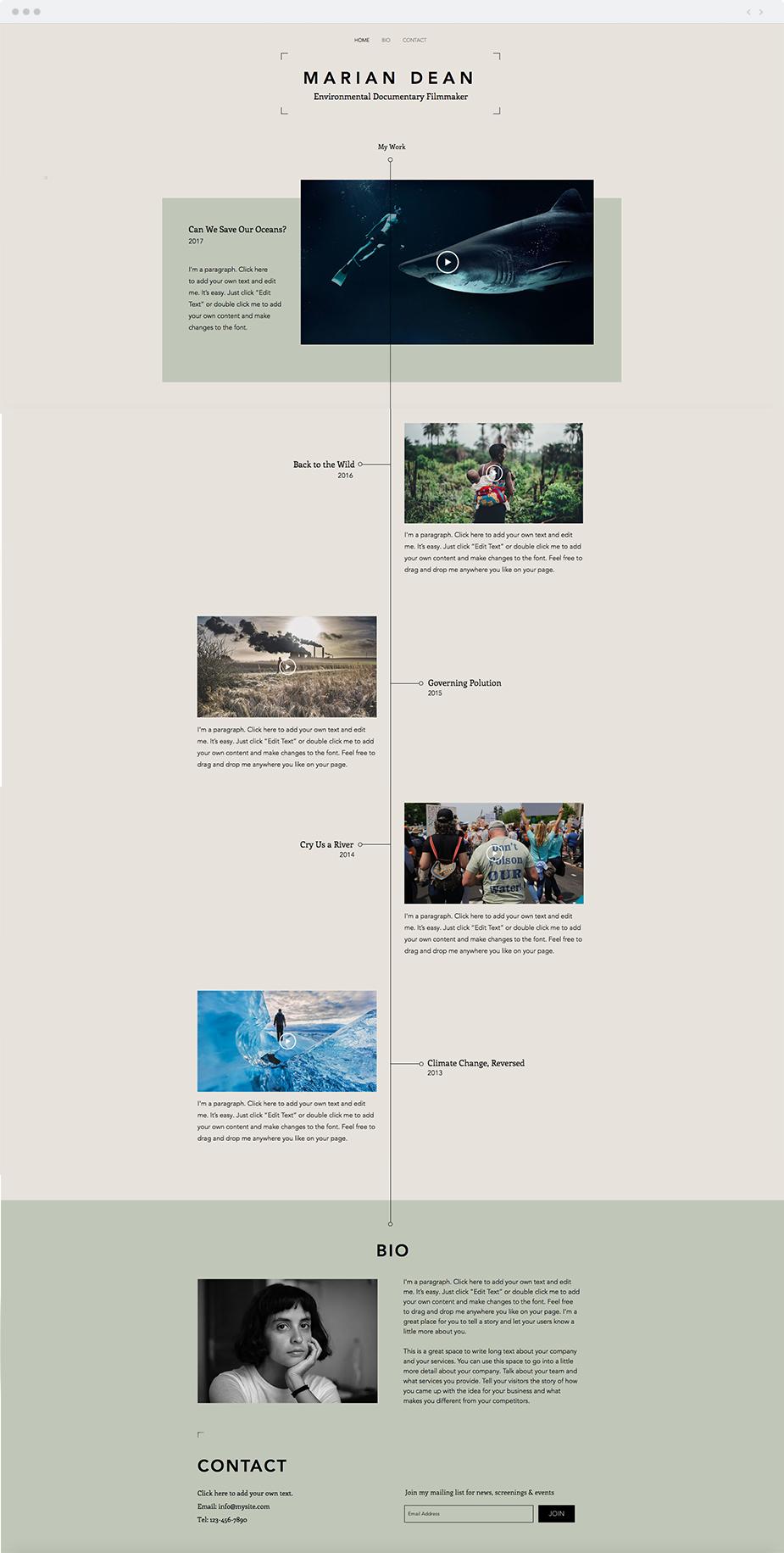 Filmography website template wix website templates pinterest filmography website template maxwellsz