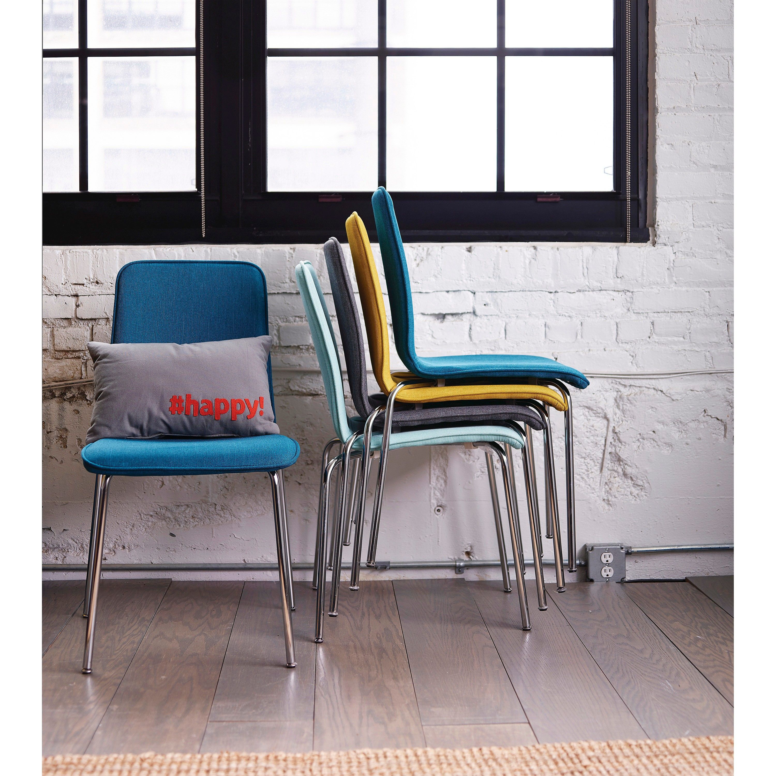 Room Essentials™ Upholstered Stacking Chair Tar