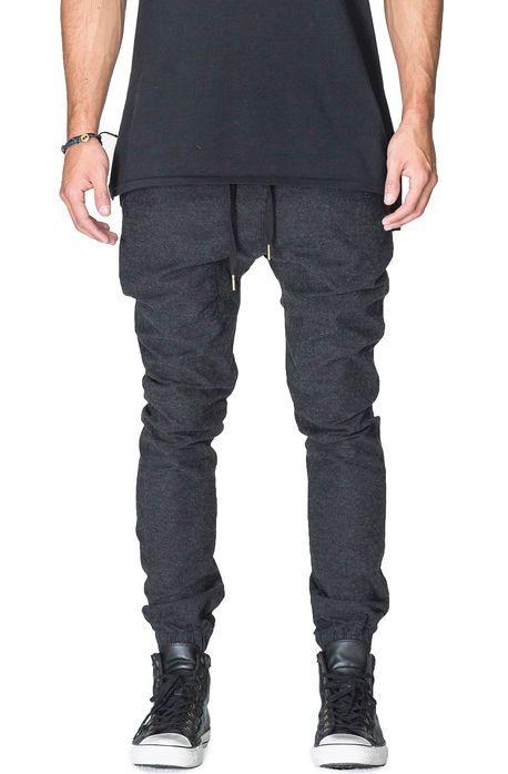 Zanerobe Joggers Sureshot Wool Moleskin Black