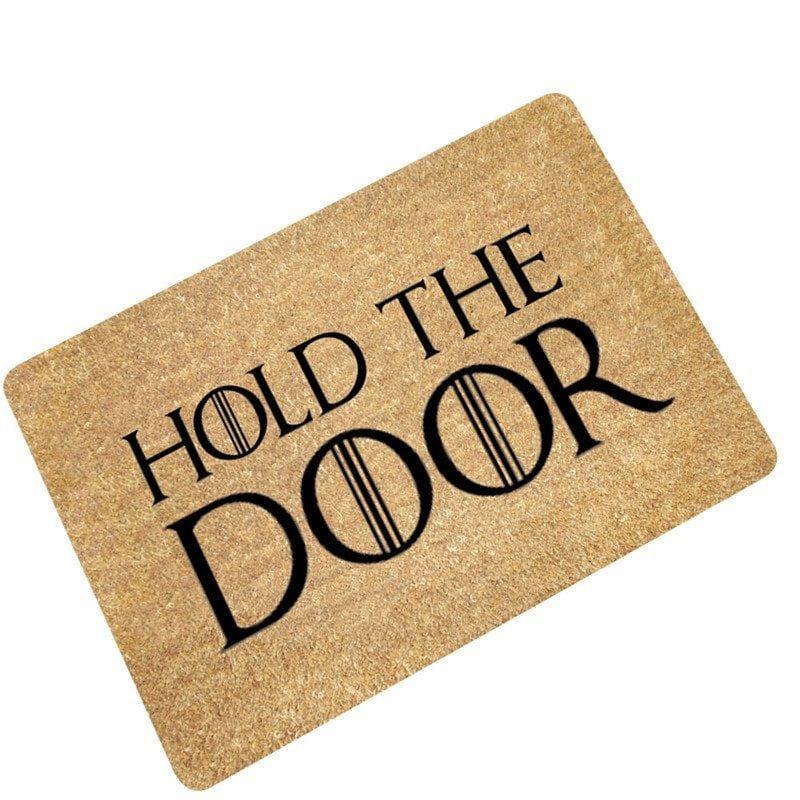 Creative Hold The Door Pattern Antiskid Floor Mat Door Mat Floor Rugs Doors