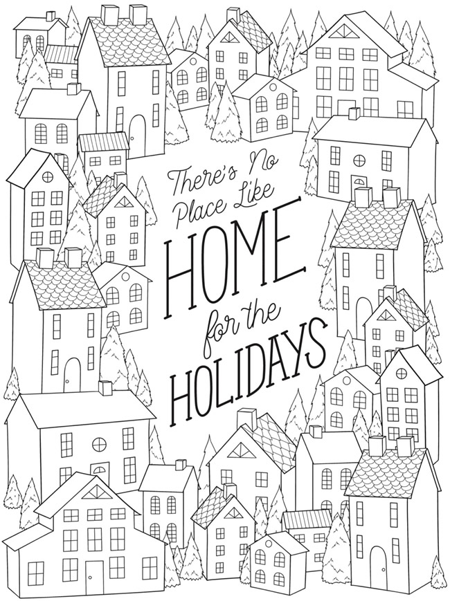 No Place LIke Home for Xmas Creative Haven Christmas