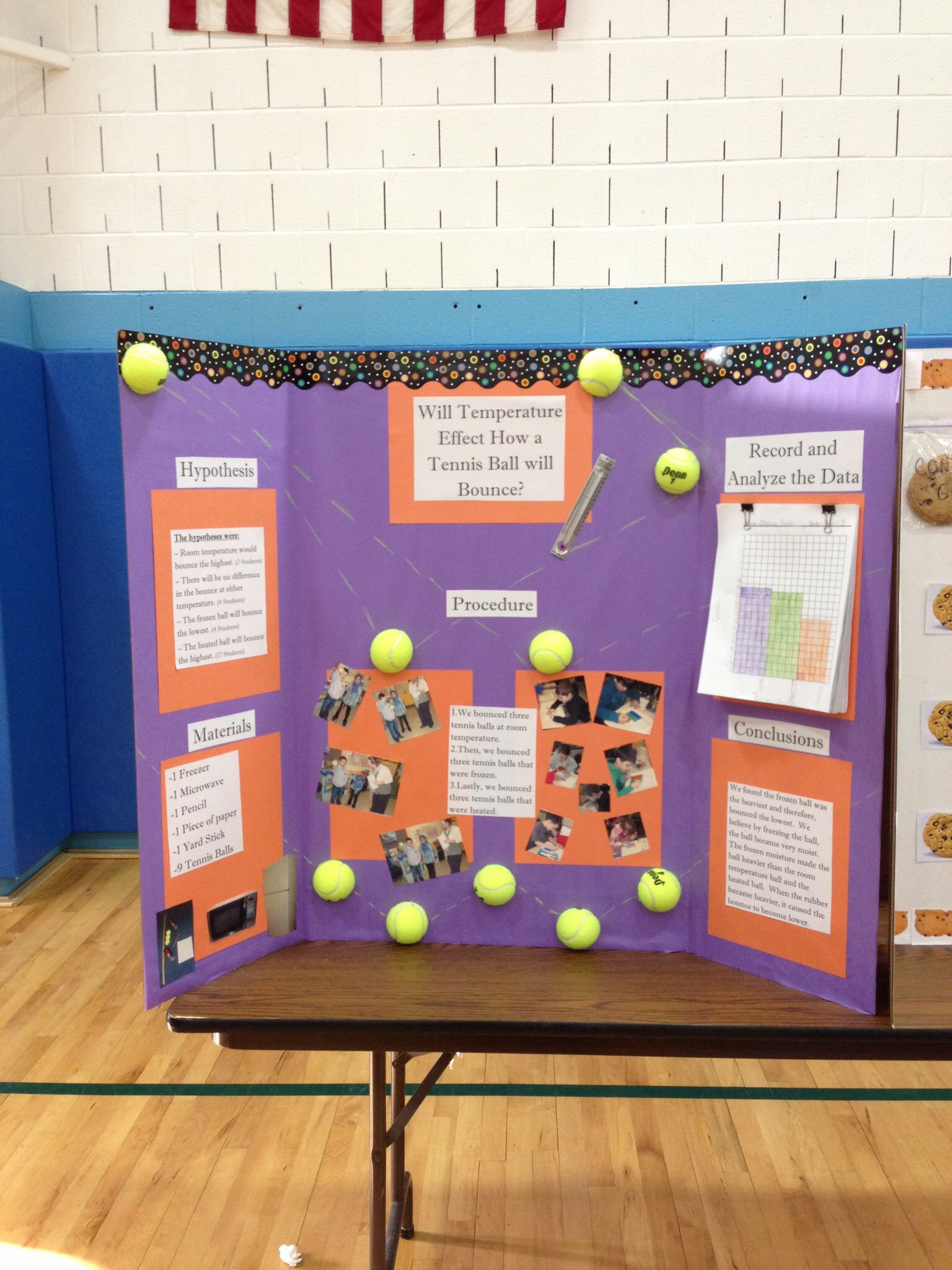 Tennis Ball Science Classroom Project Science Fair Projects Boards Science Classroom Science Fair