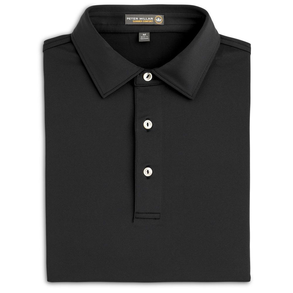 607fb8d7203f PETER Millar SUMMER Comfort POLO Medium BLACK Mens SIZE Sz MC0EK01S Golf  SHIRT    PeterMillar  PoloRugby