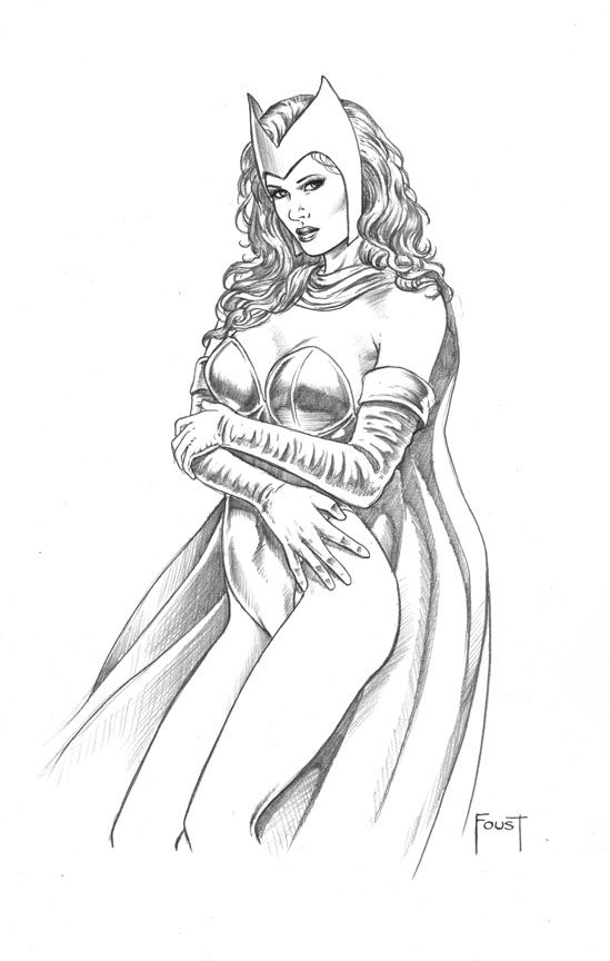 Scarlet Witch Mitch Foust Coloring Pages Pinterest Scarlet