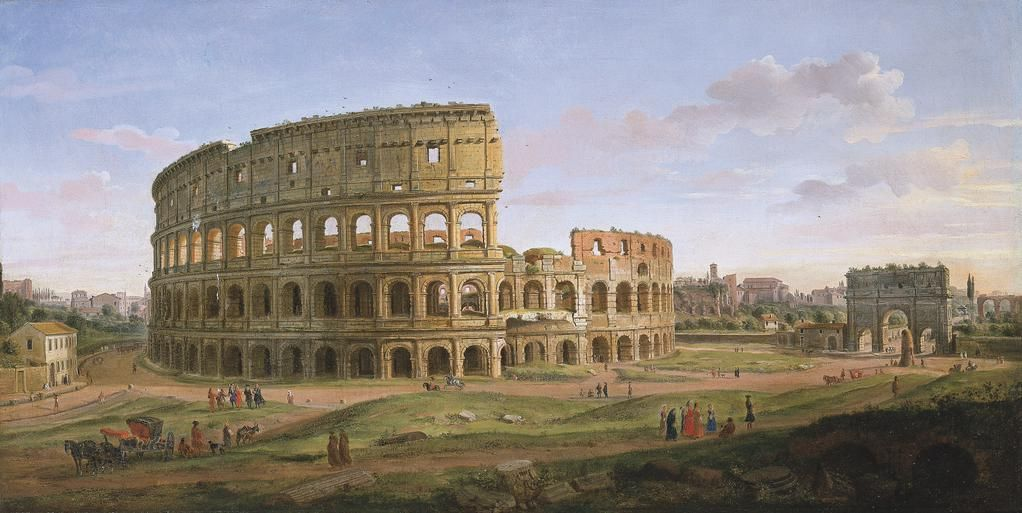 View of the Colosseum and the Arch of Constantine by Caspar van Wittel c. 1716 (Private Collection).