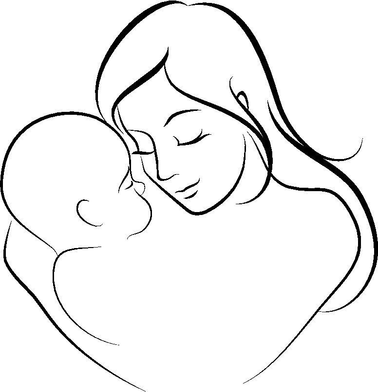 Dibujo-del-Dia-de-la-Madre-para-colorear-7.jpg (776×806) | PAINTABLE ...