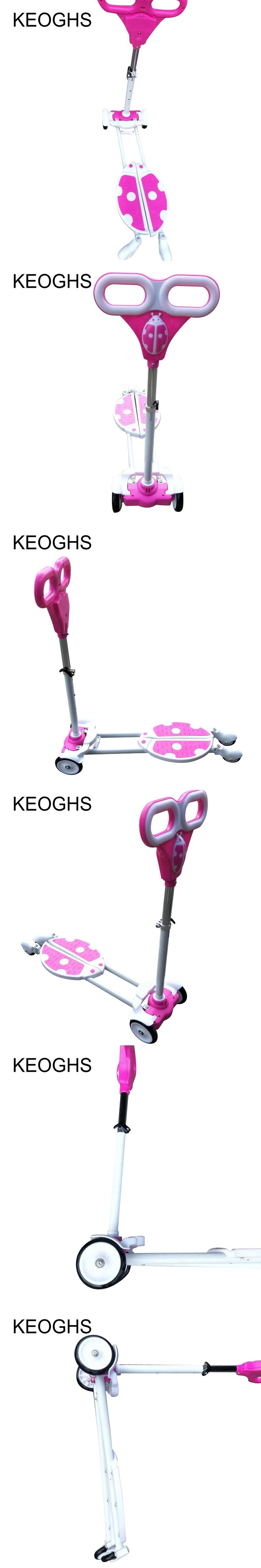 Foldable Foot Pedal 3 Wheels Roller Kick Bike Scooter Children