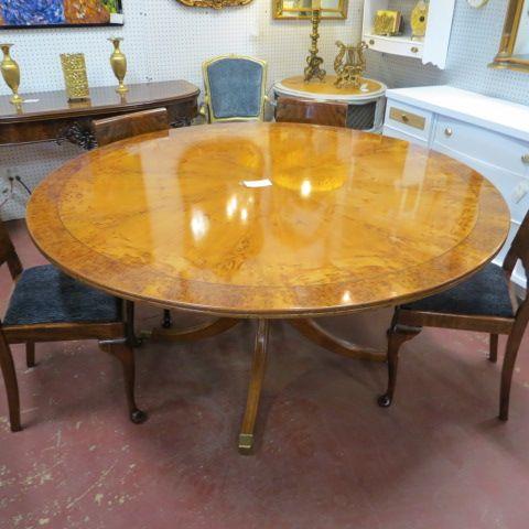 sold 1400 vintage antique exotic wood round dining table c 1930 rh pinterest com