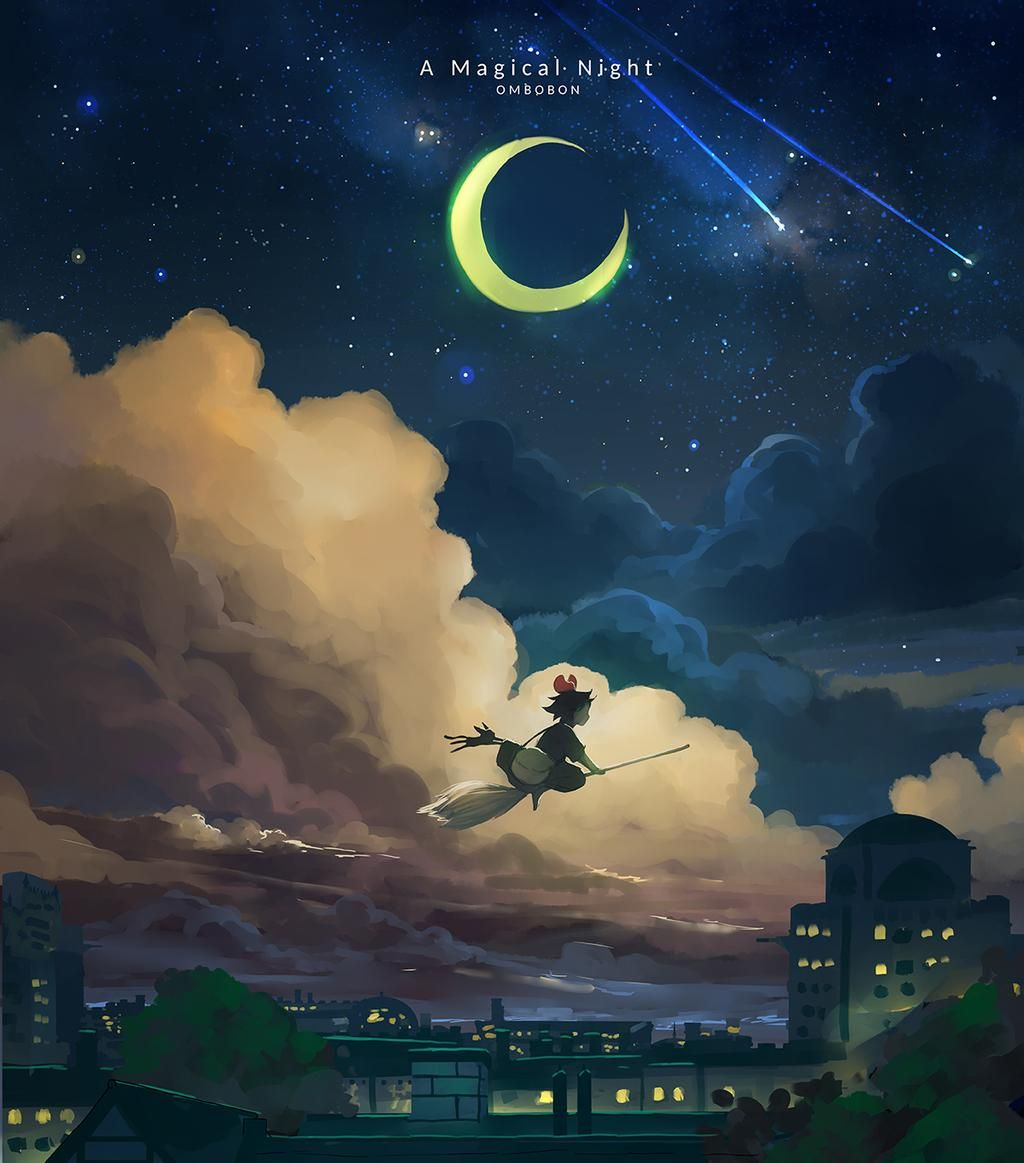 A Magical Night - Kiki's Delivery Service by ombobon on DeviantArt