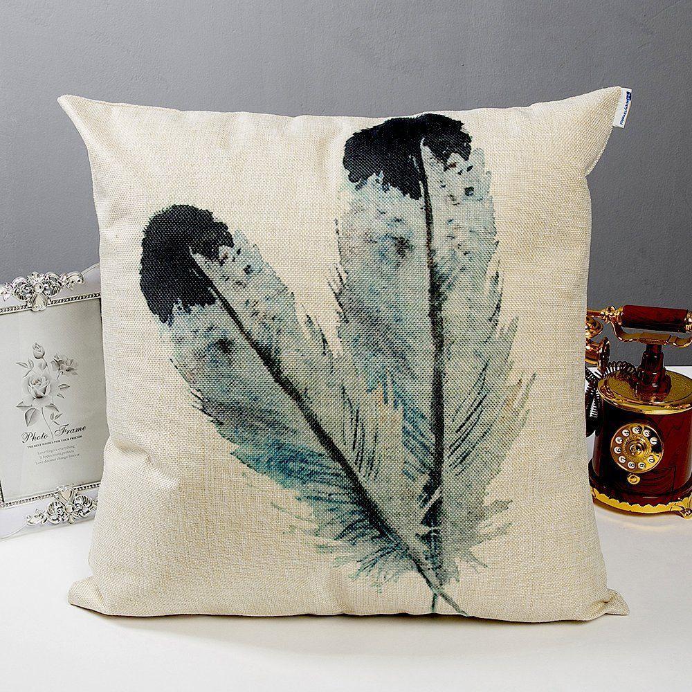 Anickal decorative throw pillow covers set of cotton linen cushion