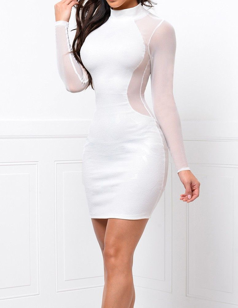 69208cb032c Product Code: TQD0370236 Package included: one piece dress Gender: Female  Age Group: Adult Color:white Pattern: Solid Color Material: polyester fibre  Get ...