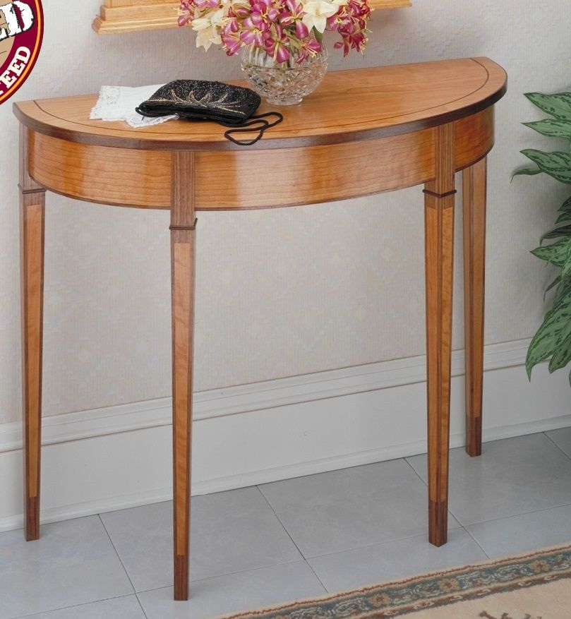 curved front hall table woodsmith plans living room furniture rh pinterest com