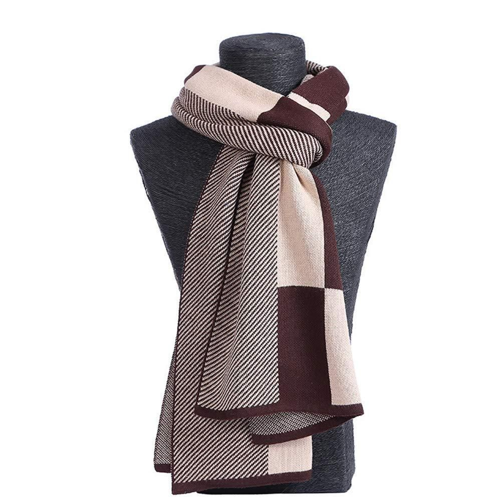 DG Men/'s Winter Scarf Check-Plaid,Gray Black White Cashmere Feel,Warm*Unisex