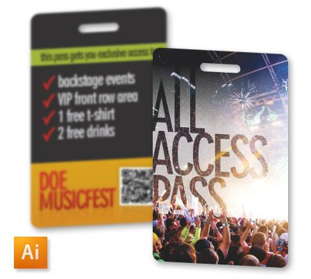 All Access Pass ID Badge Template Crossing Creative Pinterest - id badge template