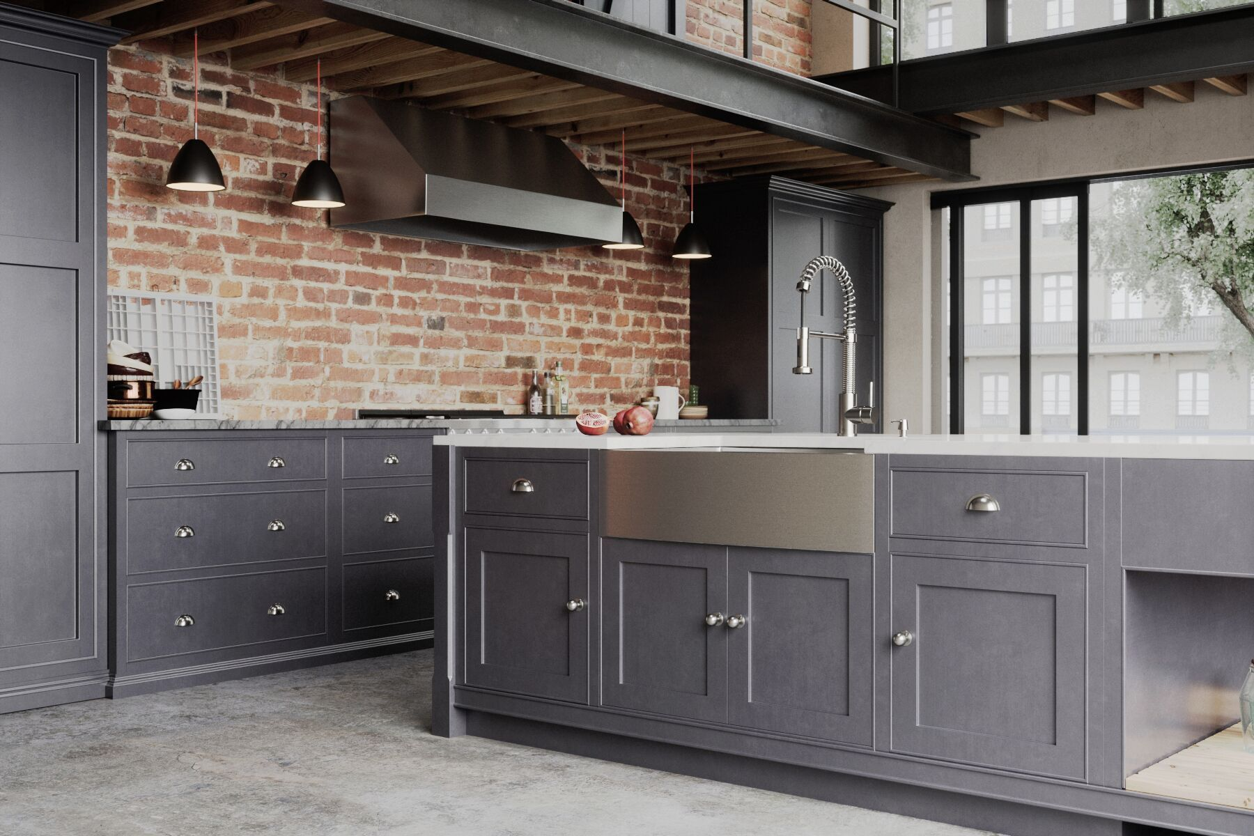Wall Kitchen Island Sink Google Search Custom Kitchen Island Grey Kitchen Island Kitchen Island With Seating