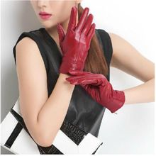 Luxury Women Lady Genuine Leather Winter Warm Sheepskin Elegant Lined Gloves(China (Mainland))
