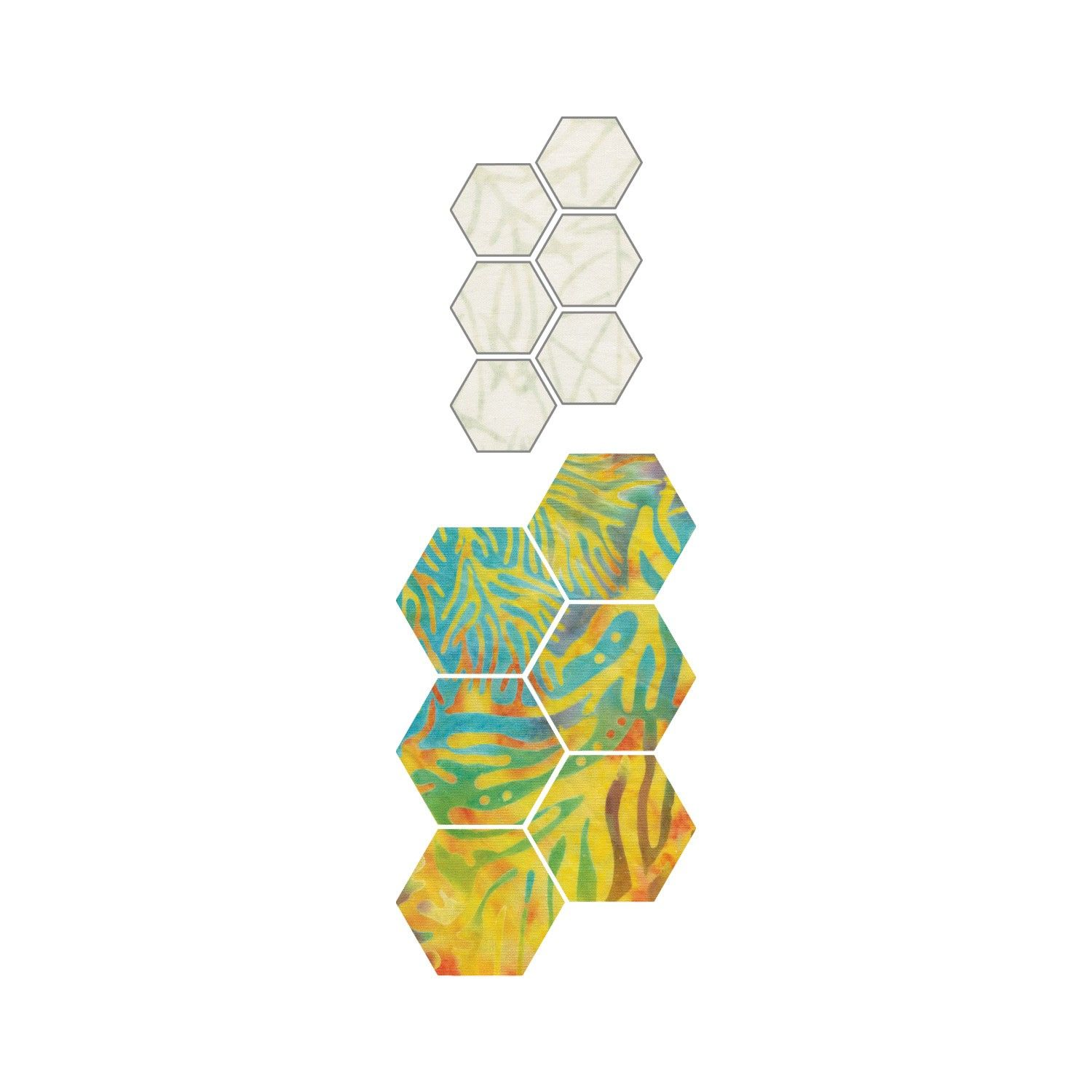 GO! English Paper Piecing Hexagon-1/2 Finished Sides Die