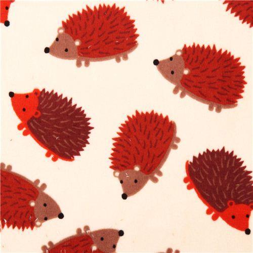 Hedgehog Personalized Cream Minky Baby Blanket with Hedgehog print