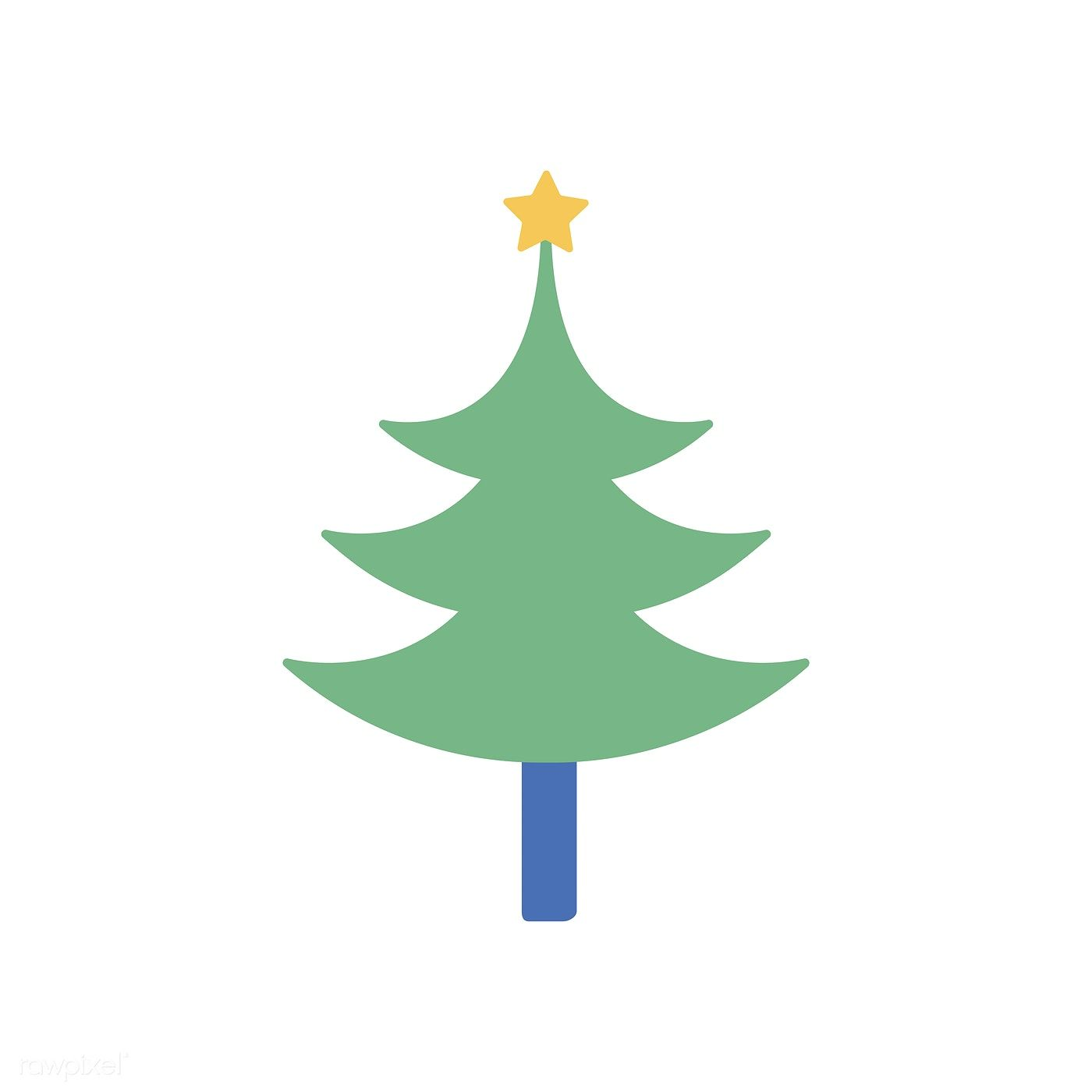 Illustration Of Christmas Tree Icon Free Image By Rawpixel Com Tree Icon Christmas Tree Clipart Christmas Tree