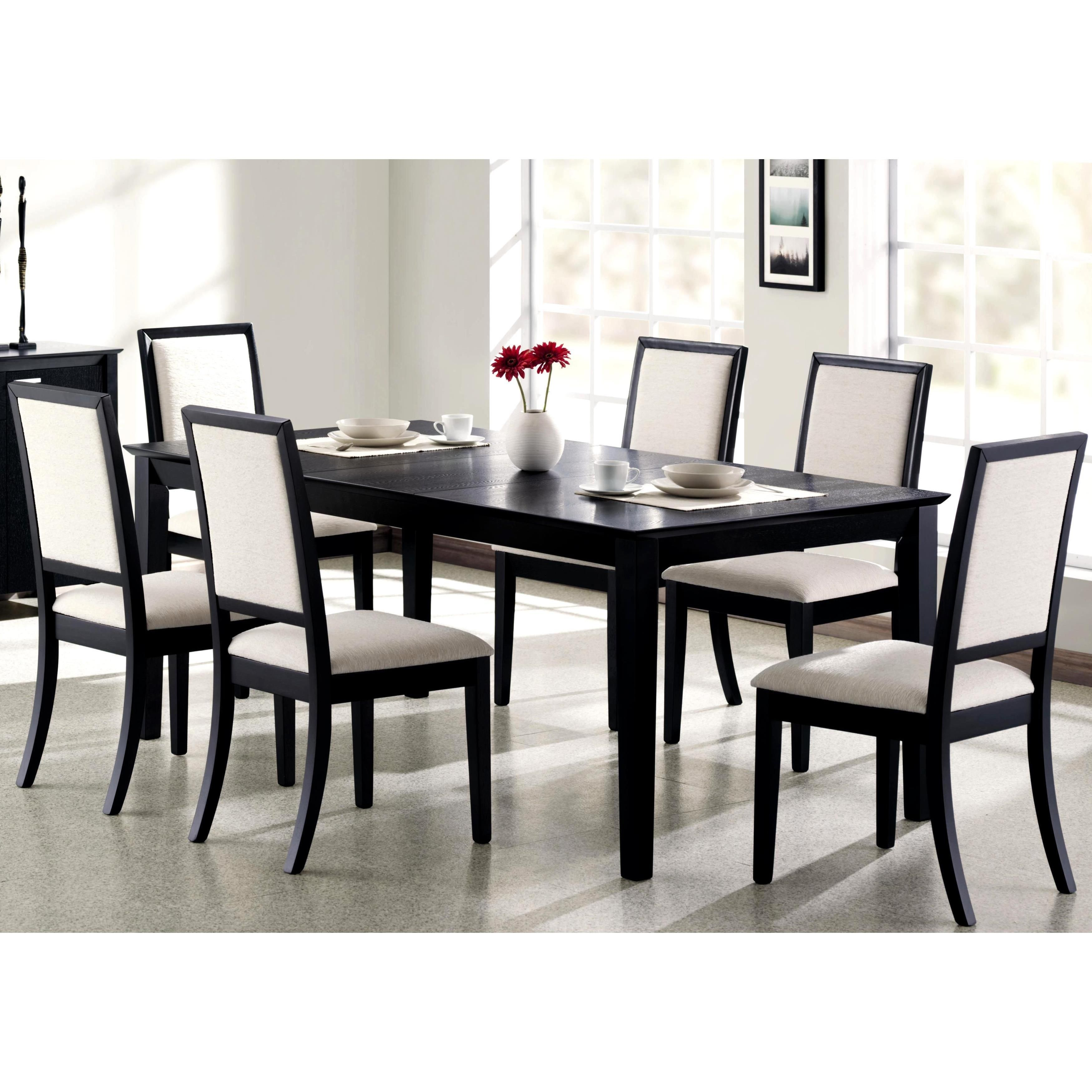 prestige cream ivory white upholstered black wood dining set rh pinterest co uk