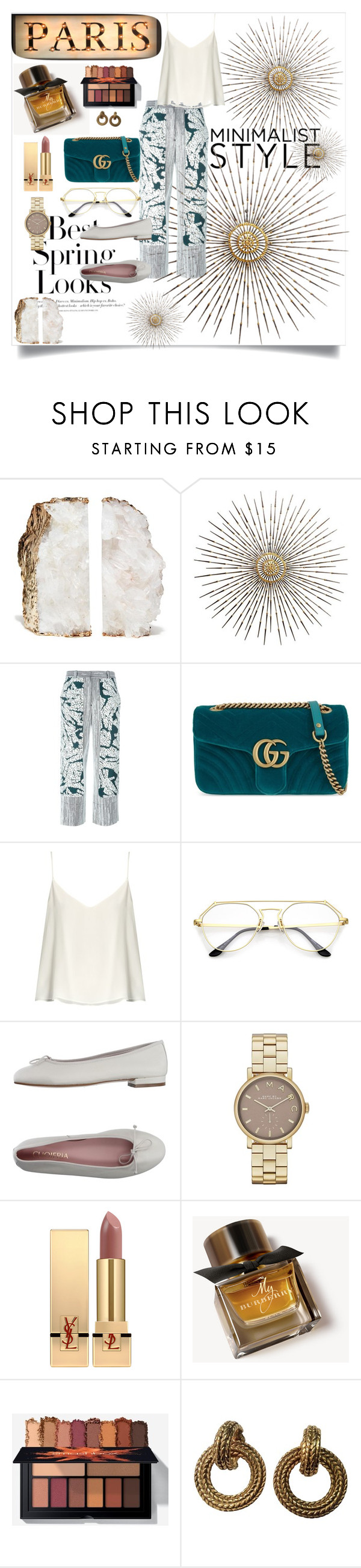 """Без названия #41"" by sabilatifova ❤ liked on Polyvore featuring H&M, Cédric Charlier, Gucci, Raey, CUOIERIA, Marc Jacobs, Yves Saint Laurent, Burberry and Chanel"