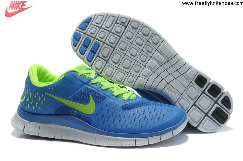 Cheap Mens Nike Free 4.0 V2 Royal Blue Volt Shoes The Most Lightweight Shoes